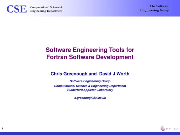 software engineering tools for fortran software development n.