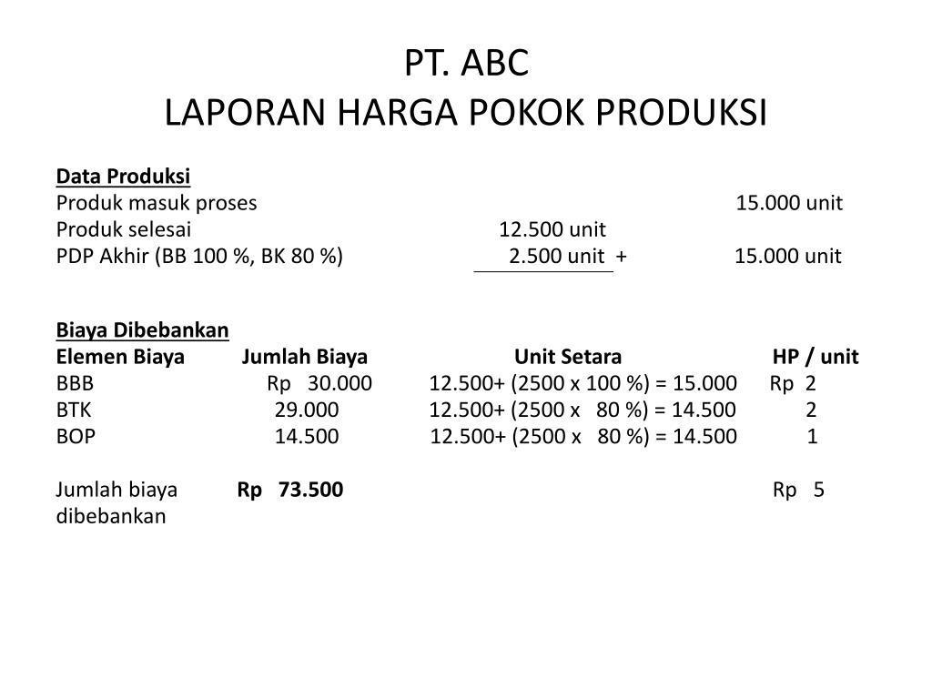 Ppt Metode Harga Pokok Proses Powerpoint Presentation Free Download Id 3544793