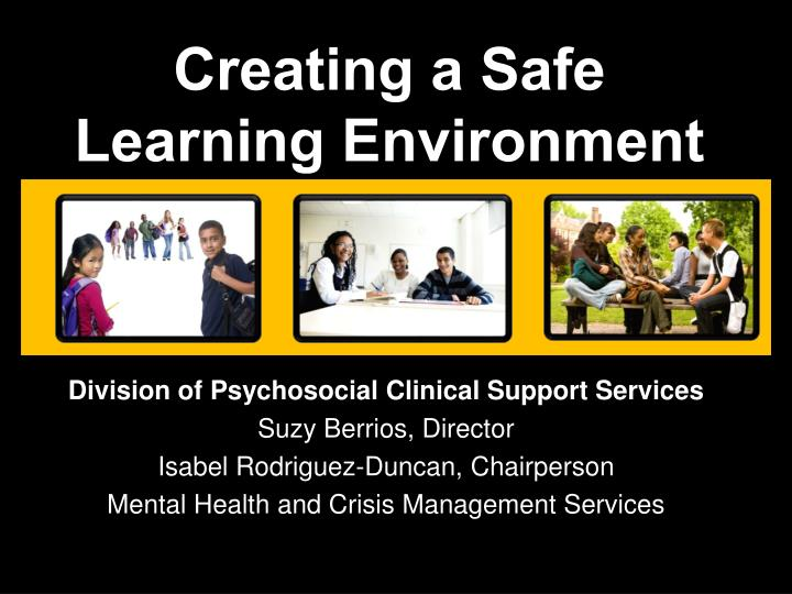 creating a safe learning environment n.