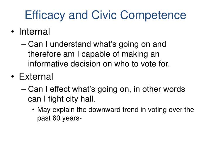 Efficacy and Civic Competence