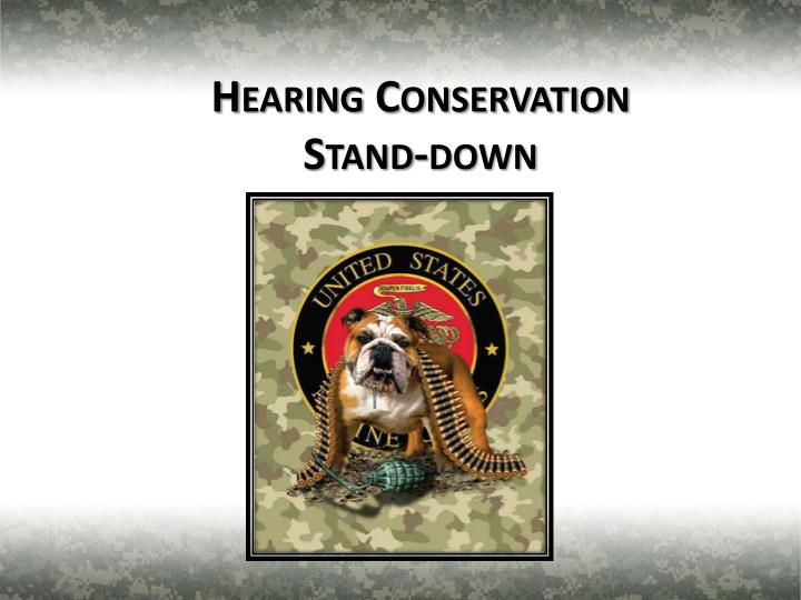 hearing conservation stand down n.