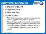quality improvement is