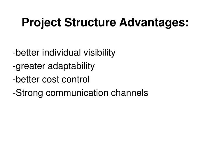 Project structure advantages