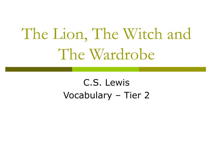 the lion the witch and the wardrobe n.