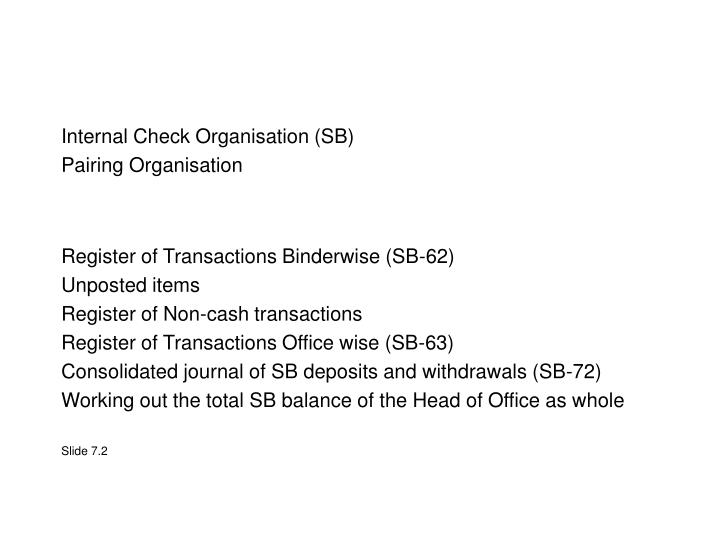Register of Transactions Binderwise (SB-62)