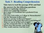 task 3 reading comprehension