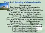 task 4 listening massachusetts