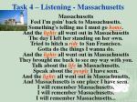 task 4 listening massachusetts1