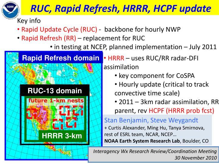 ruc rapid refresh hrrr hcpf update n.