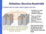 definition bisection bandwidth
