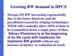 growing bw demand in hpcs2