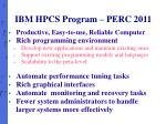 ibm hpcs program perc 2011