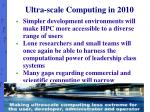 ultra scale computing in 2010
