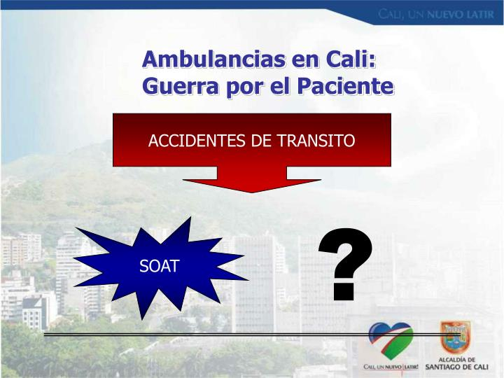 Ambulancias en Cali: