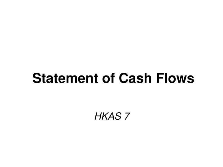 statement of cash flows n.