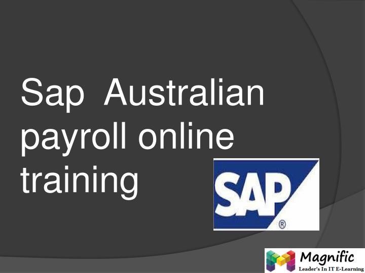 sap australian payroll online training n.