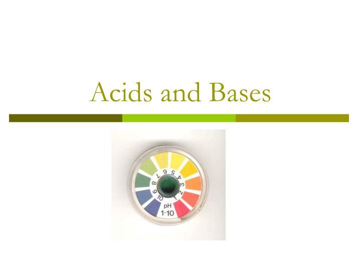 acids and bases n.