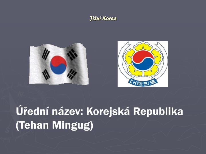 Jižní Korea připojte