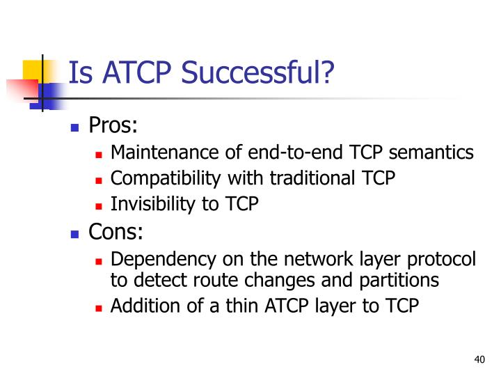 atcp tcp for mobile ad hoc