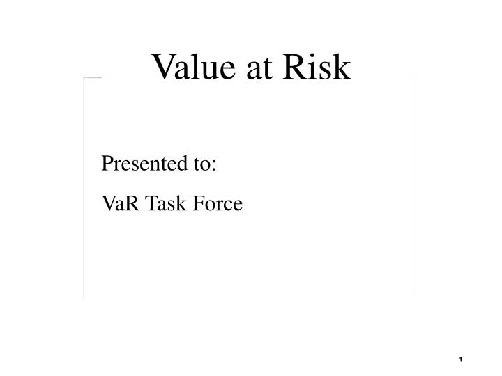 value at risk n.