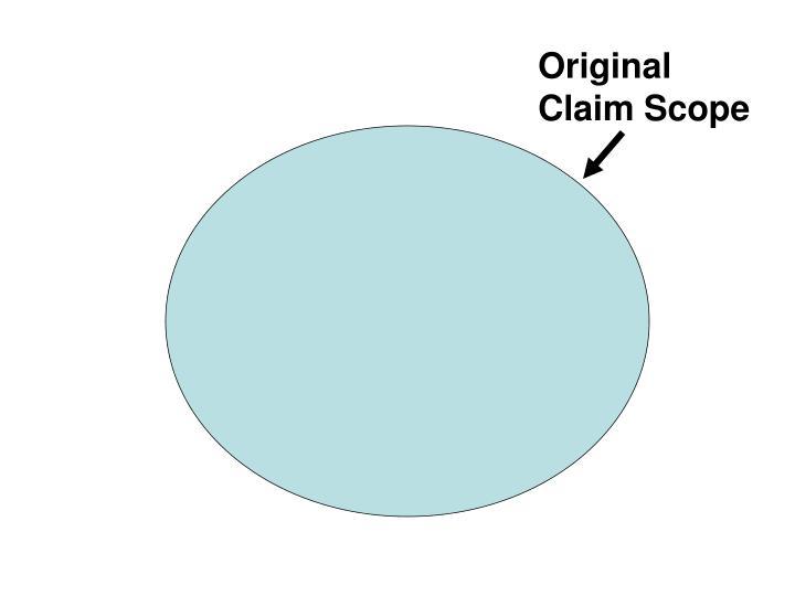 Original Claim Scope