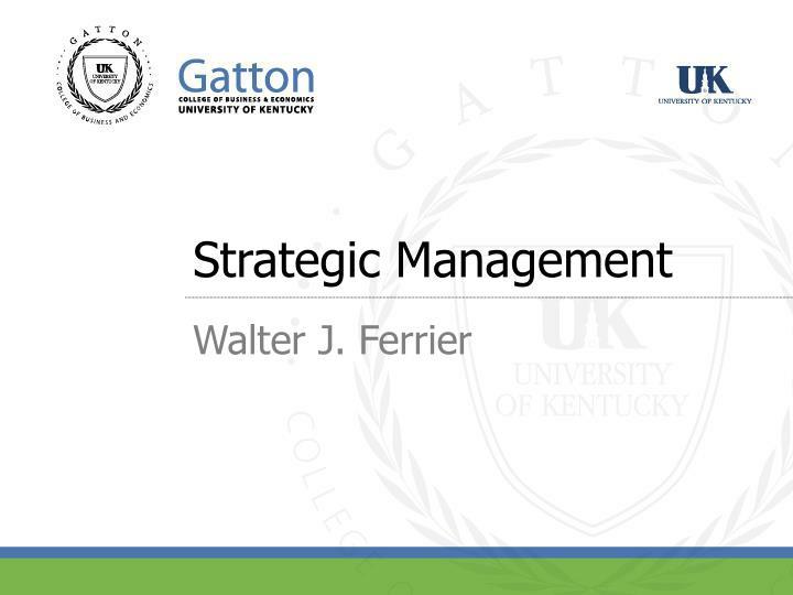 strategic management n.