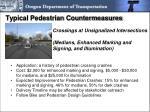 typical pedestrian countermeasures