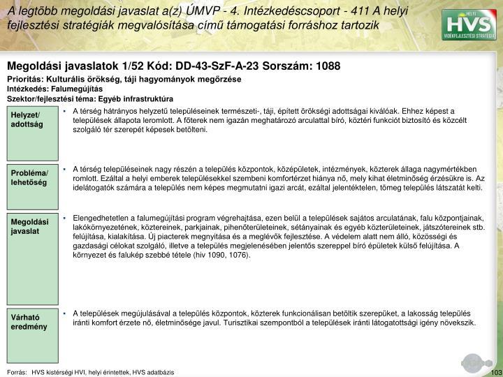 Megoldási javaslatok 1/52 Kód: DD-43-SzF-A-23 Sorszám: 1088