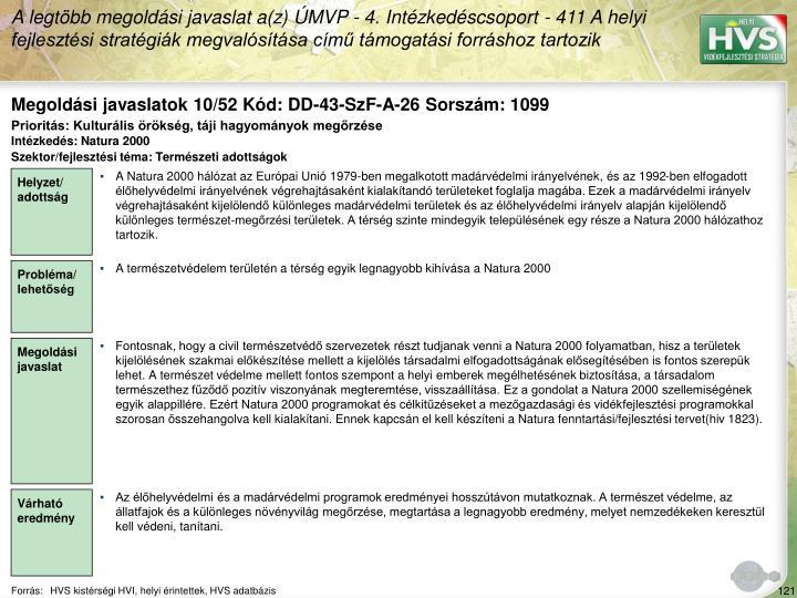Megoldási javaslatok 10/52 Kód: DD-43-SzF-A-26 Sorszám: 1099