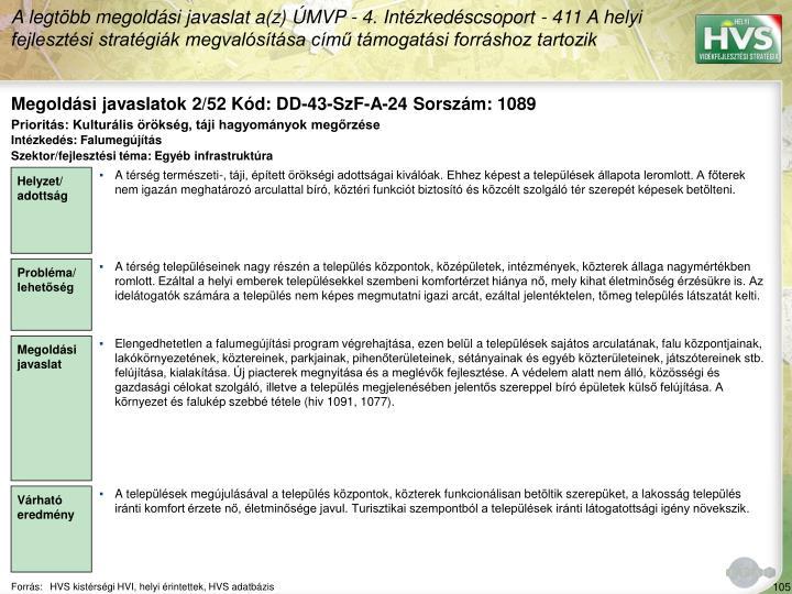 Megoldási javaslatok 2/52 Kód: DD-43-SzF-A-24 Sorszám: 1089