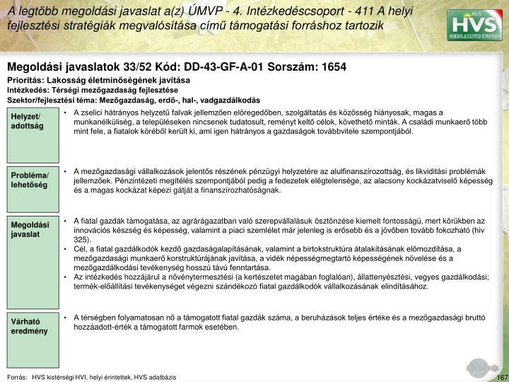 Megoldási javaslatok 33/52 Kód: DD-43-GF-A-01 Sorszám: 1654