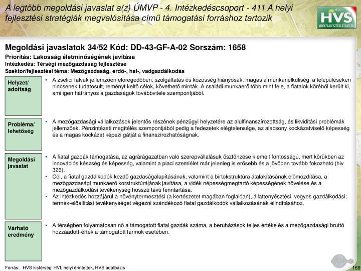 Megoldási javaslatok 34/52 Kód: DD-43-GF-A-02 Sorszám: 1658