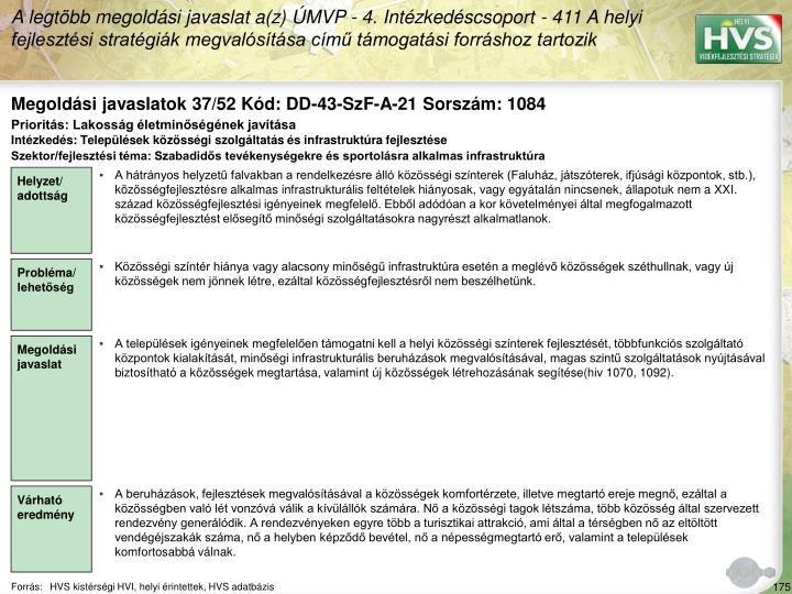 Megoldási javaslatok 37/52 Kód: DD-43-SzF-A-21 Sorszám: 1084