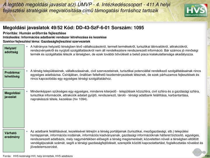 Megoldási javaslatok 49/52 Kód: DD-43-SzF-6-01 Sorszám: 1095
