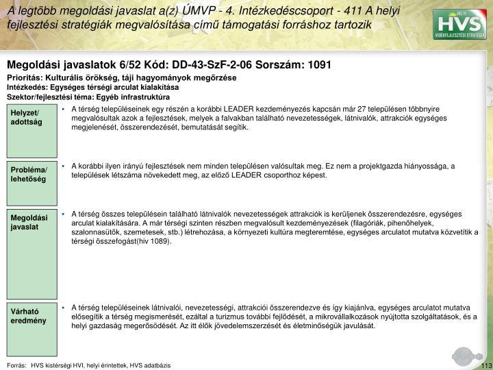 Megoldási javaslatok 6/52 Kód: DD-43-SzF-2-06 Sorszám: 1091
