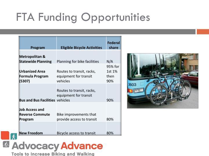 FTA Funding Opportunities
