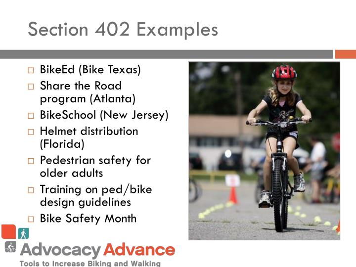 Section 402 Examples