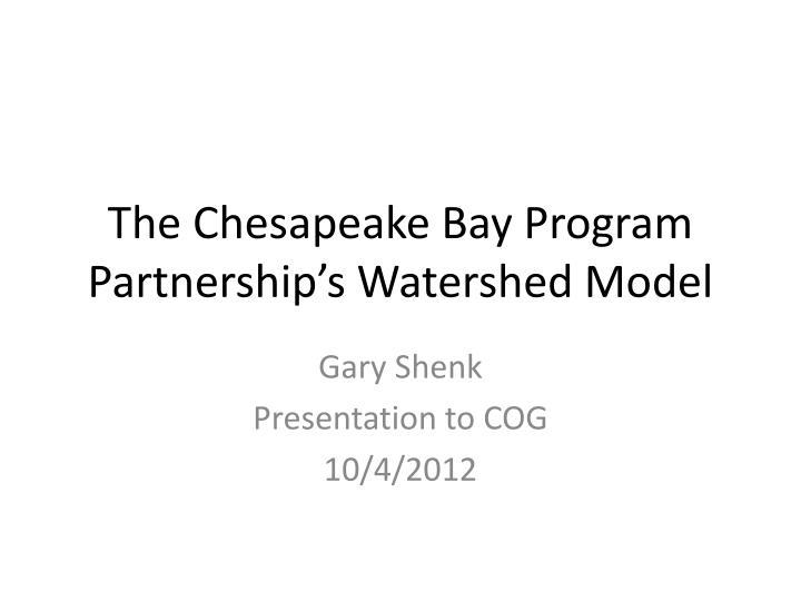 the chesapeake bay program partnership s watershed model n.