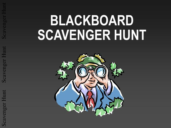 blackboard scavenger hunt