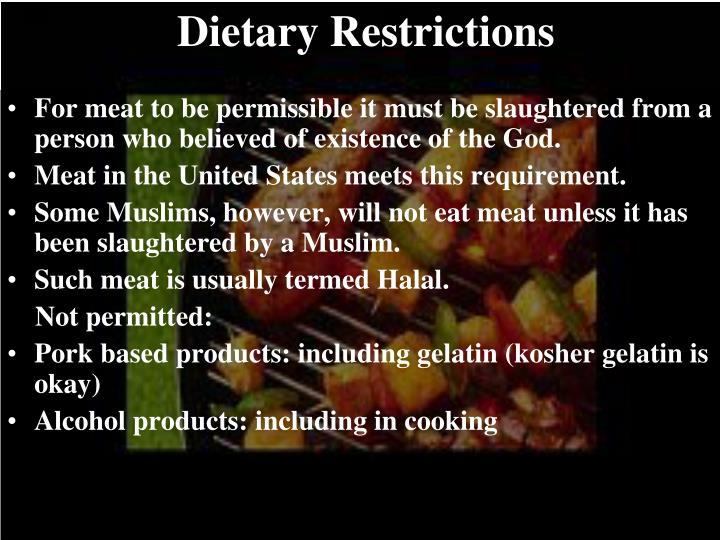 Dietary Restrictions