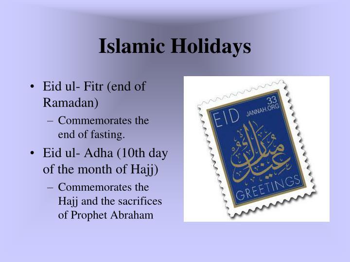 Islamic Holidays