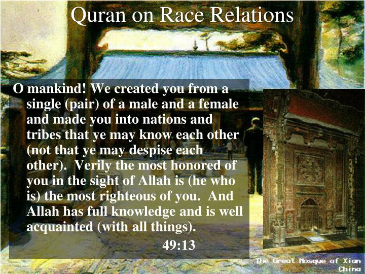Quran on Race Relations