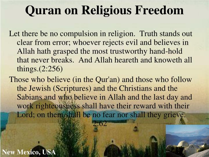 Quran on Religious Freedom