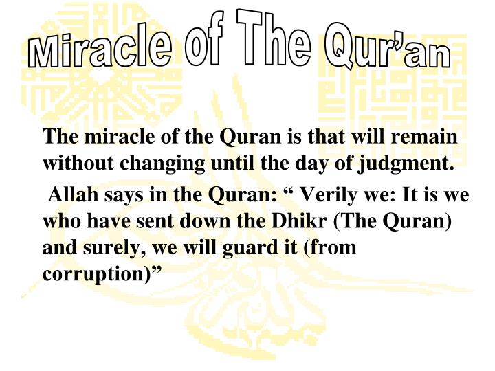 Miracle of The Qur'an
