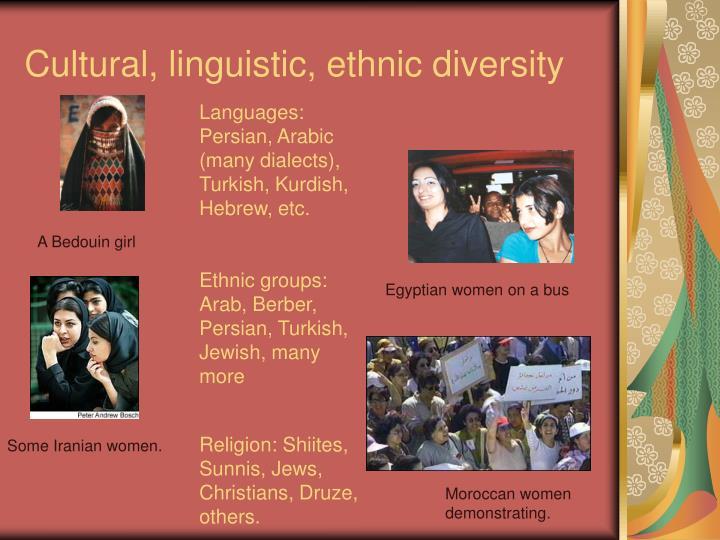 Cultural, linguistic, ethnic diversity