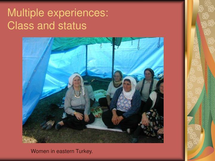 Multiple experiences: