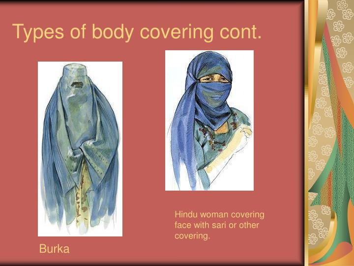 Types of body covering cont.
