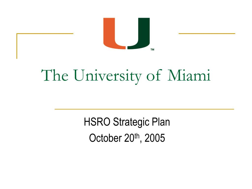 PPT - The University of Miami PowerPoint Presentation, free Within University Of Miami Powerpoint Template