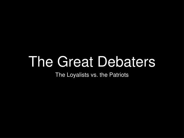 the great debaters n.