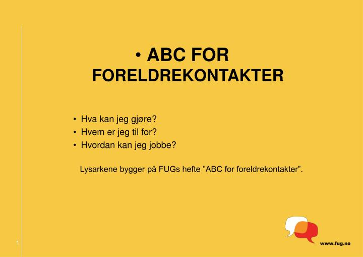 ABC FOR